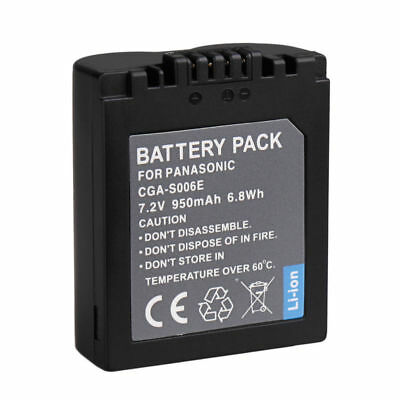 Digital Battery CGA-S006E/CGR-S006E/DMW-BMA7 For Panasonic DMC-FZ7 FZ8 FZ18 FZ50