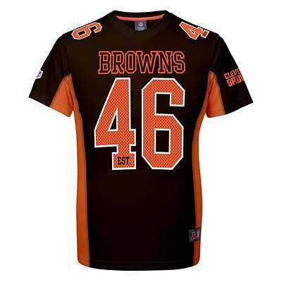 Majestic Athletic NFL Cleveland Browns Moro Poly Mesh T-Shirt