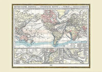 Vintage british empire world map 1896 poster wall art with size vintage british empire world map 1896 poster wall art with size finish options gumiabroncs Gallery