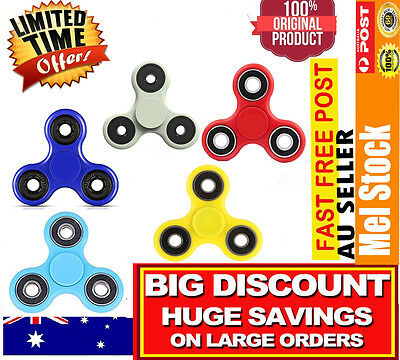 New 3D Mini Fidget Hand Finger Spinner EDC Focus Stress Reliever Toy For Kids Au