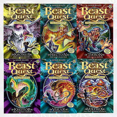 Adam Blade Beast Quest 6 Books Mixed Series Collection with Free Collector Cards