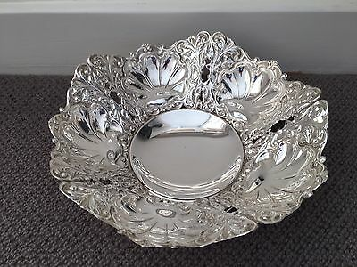 Beautiful Solid Silver 800 Bowl 480g, Hallmarked, Skilfully Decorated