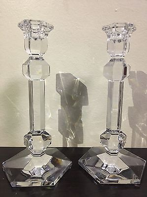Authentic Val St. Lambert Crystal Candlesticks