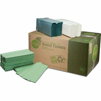 2800 x 'Maxima Green' 1 Ply C-Fold Hand Towel - Green