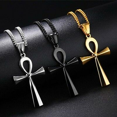 Hip-hop Ancient Ankh Cross Egyptian Symbol Of Life 316L Surgical  Steel Pendant