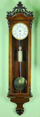 Month Duration Biedermeier Vienna Regulator Wall Clock -