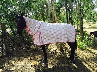 """PINK Rip Stop Poly Cotton Horse Rug Combo-5'9""""/ 6'0""""/ 6'3"""" / 6'6"""""""