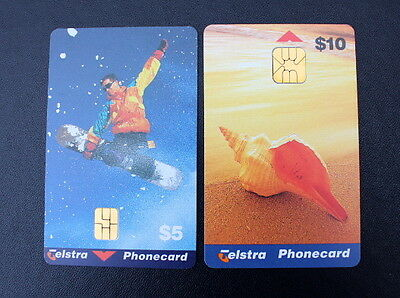 2 x Telstra Smart Phonecards -  UNUSED* MINT Condition