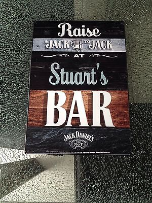 Jack Daniels Bar Sign Personalised For Stuart
