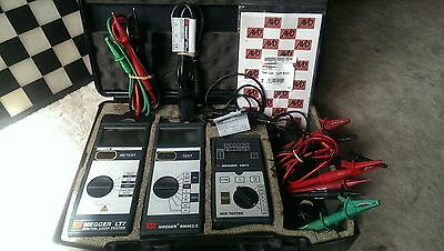 Megger Testing Meters x3 in Carry Case with leads