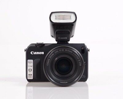 Canon EOS M Mirrorless Camera with 18-55mm Lens - Black