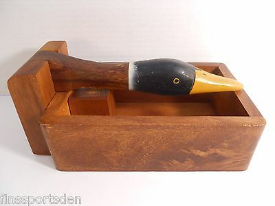 Mallard Duck Wood Box Nutcracker