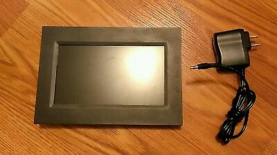 "Sylvania SDPF757 7"" Digital Picture Frame, Horizontal/Vertical Leg, W/AC Adapter"