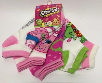 ae7f44254ce SHOPKINS SOCKS GIRLS 5 Pack No Show Sock Sz 6-8.5 Shoe 7-3 NIP ...