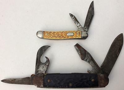 lot of 2 vintage 1930's to 1950's Imperial knives knife camp pocket folding jack