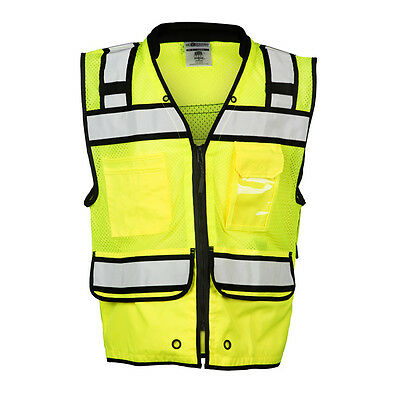 ML Kishigo S5004 Class 2 Lime Performance Surveyors Vest with Zipper