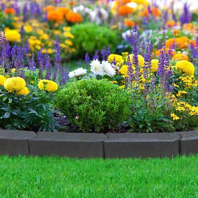 Decorative Recycled Rubber Stomp Edge Rubber Garden Lawn Edging NEW Border Slate