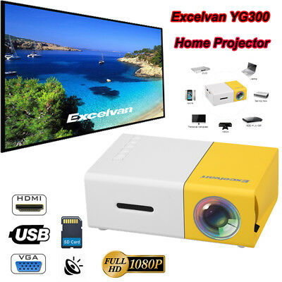 MINI YG300 1080P HD LED Projektor Heimkino Beamer HDMI SD USB VGA for Iphone DE