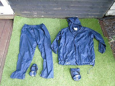 regatta water proof jacket and trouser set in bags xxxl used fishing clothing
