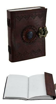 Handmade Leather Journal Diary Notebook Vintage Planner Classic Retro Clasp Lock