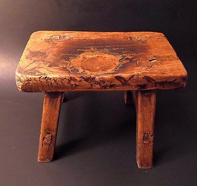 Antique Children's Wooden Footstool Restored No Nails Traditional Joinery 7""