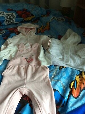 Small Bundle Of Baby Girls Age 3-6 Months Clothes Brand New