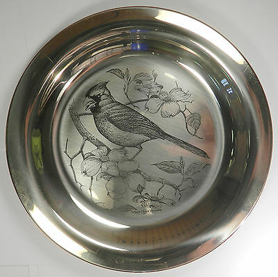 Franklin Mint Pure .925 Sterling Silver Plate - Cardinal - 6.2 Oz!
