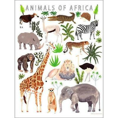 Oopsy Daisy - Animals of Africa Canvas Wall Art 30x40, Small Adventure