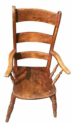 Vintage Solid Wooden Farmhouse Chair (collection only - HERTS)