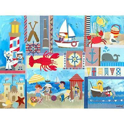 Oopsy Daisy - Seaside Playtime Canvas Wall Art 24x18, Winborg Sisters