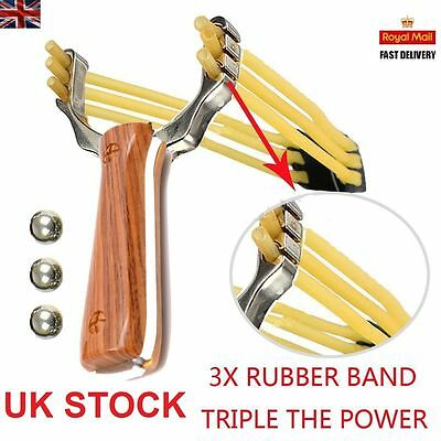 UK Powerful Slingshot Catapult Alloy Handle Sling Pro Outdoor Game Hunting New