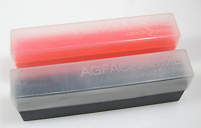 Agfa Agfachrome Slide boxes 36 exp. 35mm x 10  (Black and orange mixed)