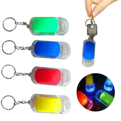 Fancy Car LED Night Light Colorful Key Chain Pendant  With Built-in Battery US