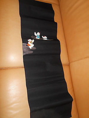 Japanese vintage silk Obi color: black,
