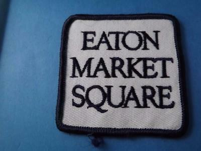 Eaton Market Square Patch Employee Uniform Eatons Stores Closed Rare