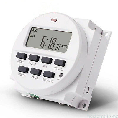 LED Digital Power Programmable Electronic Weekly Timer Switch light 12V NEW