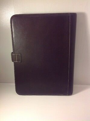 Cole Haan Men's Notepad Holder Dark Brown Portage Collection NWT 3