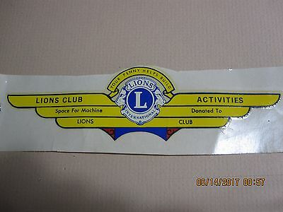 Ford Lions Club Banner Water Slide Transfer Decal
