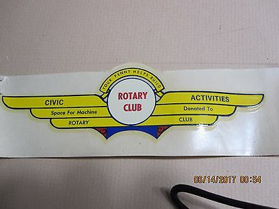 Ford Rotary Club Banner Water Slide Transfer Decal