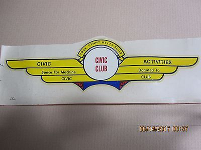 Ford Civic Club Banner Water Slide Transfer Decal