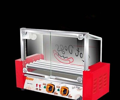 Commercial 5 Tube Sausage Machine Hotdog Maker Stainless Steel Witrh Glass Door