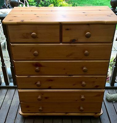 Antique Pine 5 + 2 Chest Of Drawers
