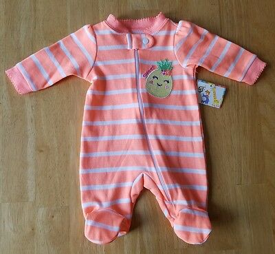 Baby Girls Clothes, Sleeper/Pajamas, Size Preemie, Garanimals brand, NWT