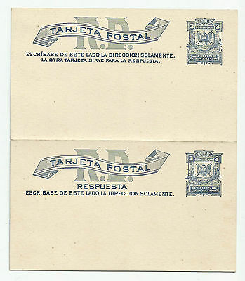 Dominikan. Rep. 1885 Antwortpostkarten**. STA. Reply Cards. 2