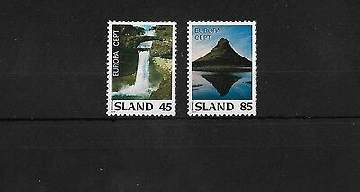 Iceland Sg553/4, 1977 Europa Mnh