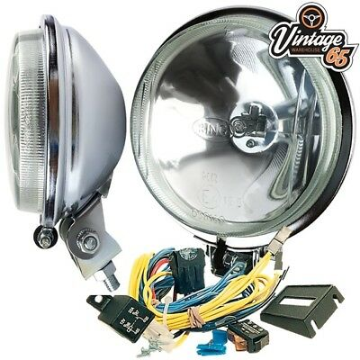 Ford Cortina Mk2 Classic Ring Chrome Driving Lights Spot Lamps With Wiring Kit