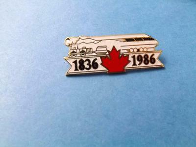 Canadian Railway Railroad Train 1836 1986 Expo 86 Pin Vintage Button Collector
