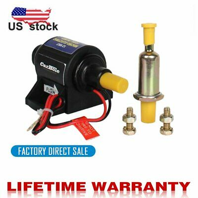 4-7 PSI High Performance Electric Fuel Pump For Use w//Carburetor 35 GPH 12V US
