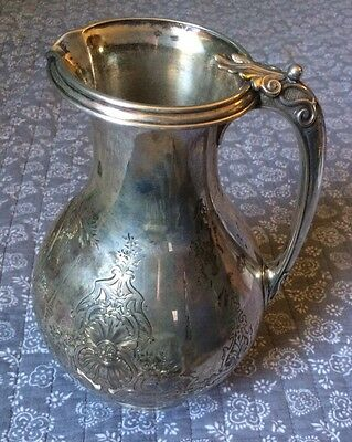 Silver Water Pitcher Antique 765 Grams Of 925 Silver