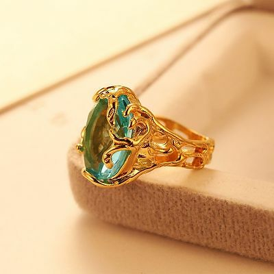 Valentine's Day Blue Big Fashion For Stone Wedding Rings Jewelry Crystal Ring